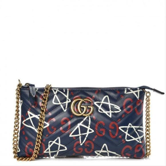 e74e4f31b Gucci Bags   Chain Wallet Marmont Ghost Blue Leather   Poshmark